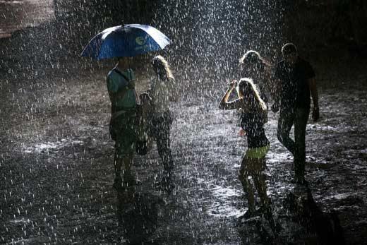 Vihar a Balaton Sound fesztiválon (A kép illusztráció! - fotó: MTI)
