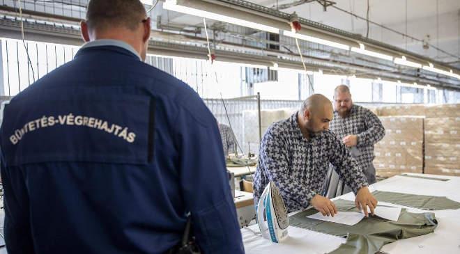 Munka a börtönben. (Kép: MTI/Rosta Tibor)