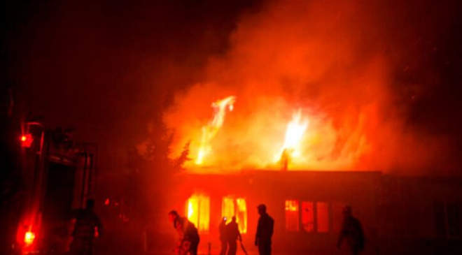 menekülttábor, tűz
