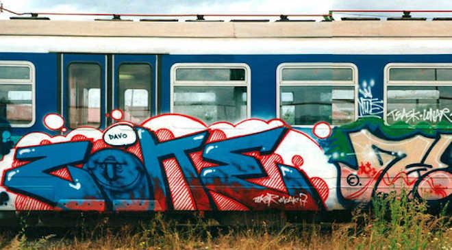 MÁV, grafitti