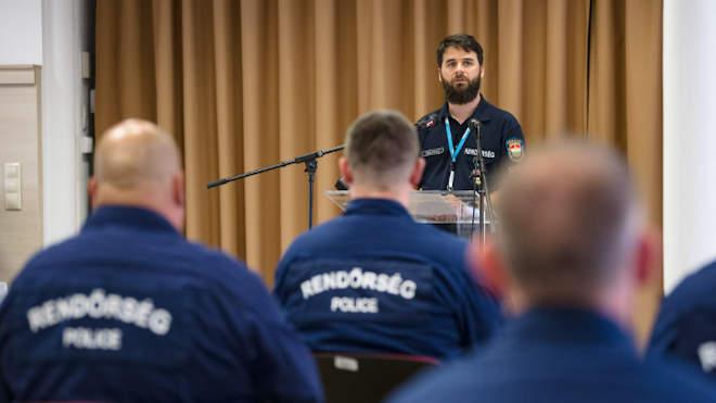 Czukor Gergely, az ORFK határrendészeti főosztályának osztályvezetője (Fotó: Police.hu)