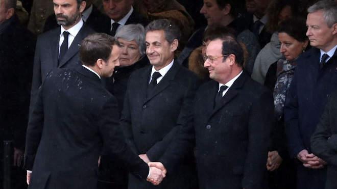 Emmanuel Macron, Francois Hollande, Nicolas Sarkozy