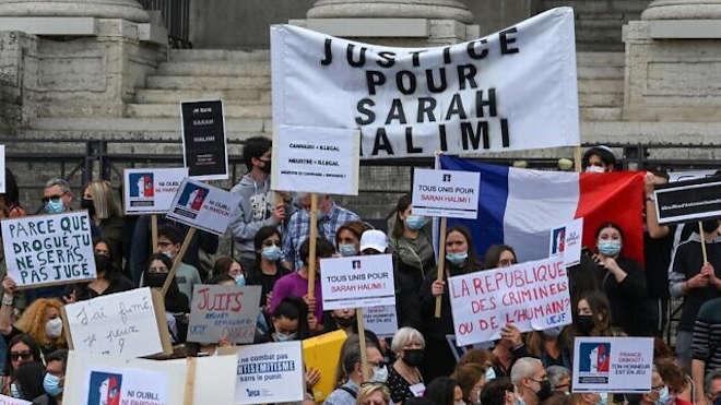 Sarah Halimi - tüntetés Párizsban