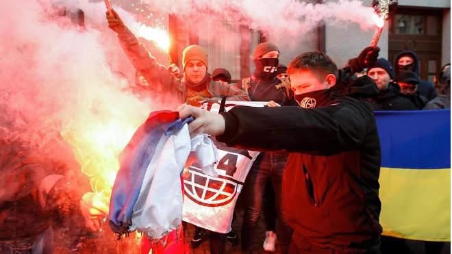Tiltakozók Kijevben