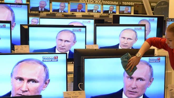 Putyin a televízióban