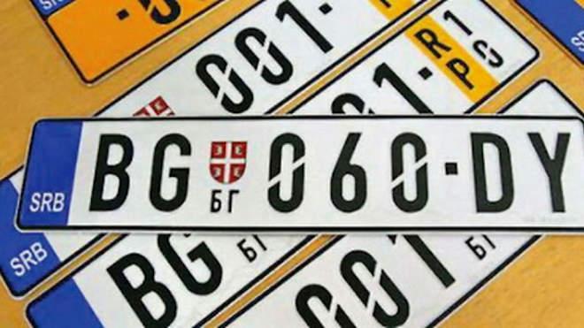 szerb rendszám