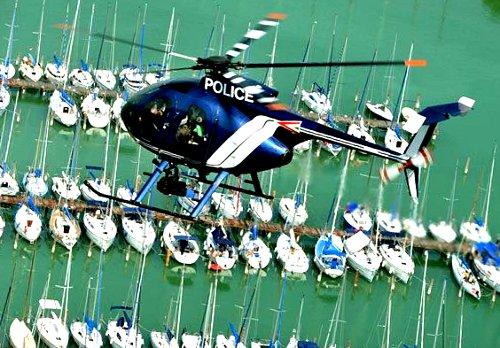 Balaton, rendőrségi helikopter