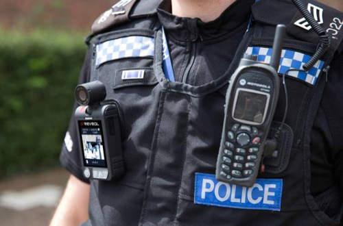 Brit rendőr kamera