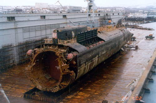 A Kurszk tengeralatjáró roncsa