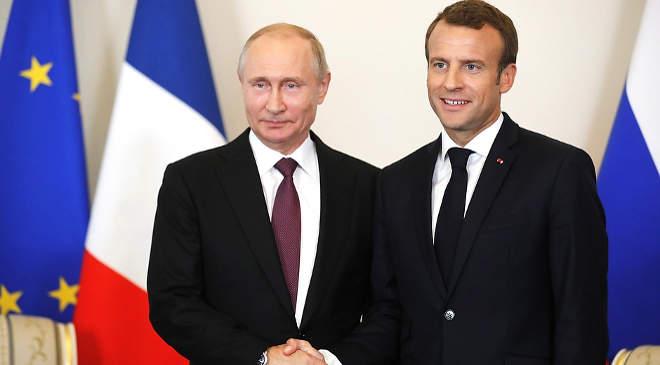 Putyin és Macron
