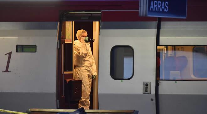Az Amszterdamból Párizsba közlekedő Thalys expresszvonat