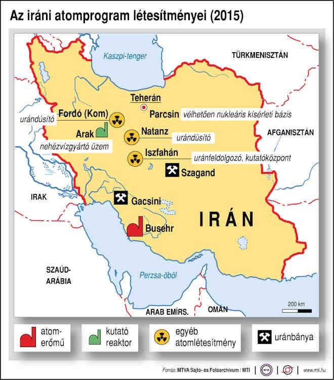 iráni atomlétesítmények