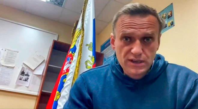 Navalnij a rendőrségen