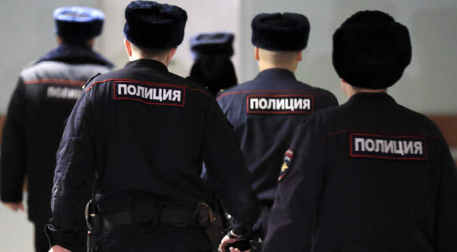 orosz rendőrök