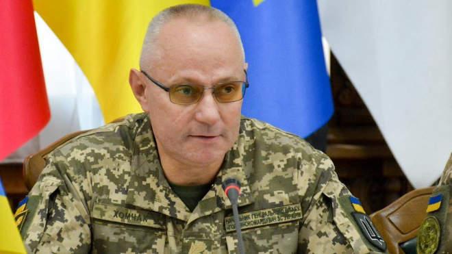Ruszlan Homcsak ukrán vezérkari főnök