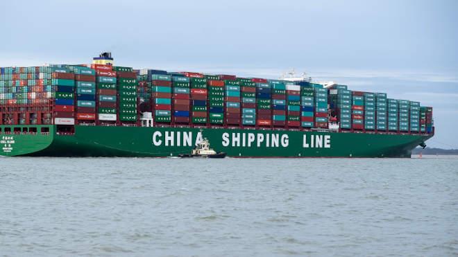 Kínai konténerszállító tengerjáró