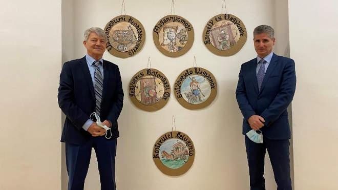 Móró Lajos tagozati elnök és Krauzer Ernő r.ezredes, az MRTT titkára