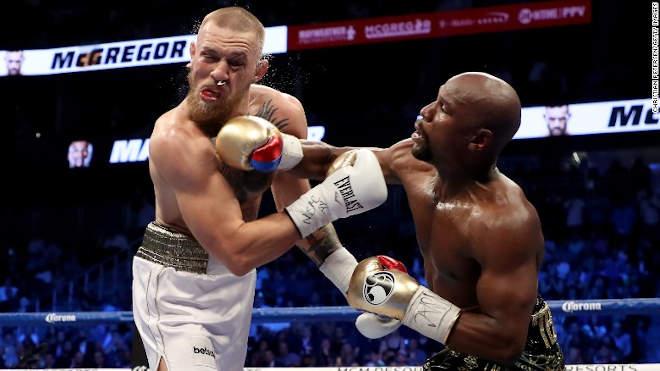 Conor McGregor vs. Floyd Mayweather Jr. (Forrás: CNN)