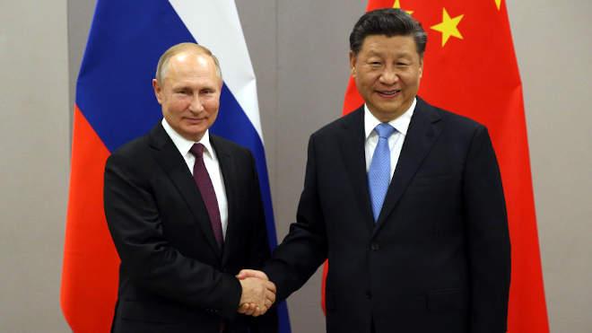 Hszi Csin-ping kínai és Vlagyimir Putyin orosz elnök