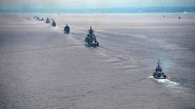 orosz flotta hadgyakorlat