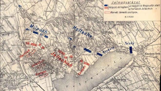 Pákozd-Sukoró-Velencei csata térképe