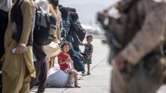 afgán menekültek