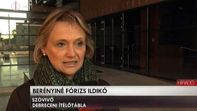 Fórizs Ildikó, a Debreceni Ítélőtábla szóvivője